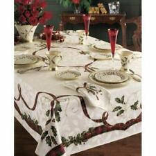 "Lenox Holiday Nouveau Tablecloth, 60"" x 120""Oblong/Rectangle, Christmas Decor"