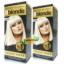 2x Jerome Russell BBlonde Platinum Blonde Maximum Colour Toner Non Permanent