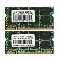 2GB 2X 1GB DDR266 PC2100 DDR 266mhz 200-pin Sodimm Laptop Memory Ram Non-Ecc