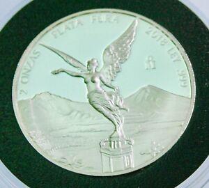 2018 2 oz Silver Mexican Libertad PROOF Coin .999 Fine Silver BU