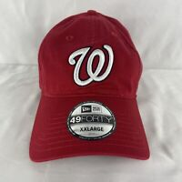 NEW MLB Washington Nationals Baseball Cap Hat Size XXL Fitted New Era 49FORTY