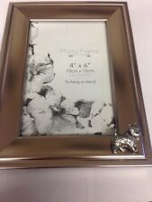 D1 Westie  PICTURE FRAME SILVER EMBLEM 6X4 , 4x6  HANG OR STAND
