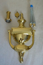 Frank Allart & Co  Brass Victorian Door Knocker & Spy Hole
