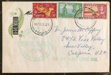 1964 Niuafoou Tonga Toga Tin Can Canoe Mail Cover to Sun valley Ca USA