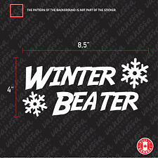 2X WINTER BEATER sticker vinyl car decal white
