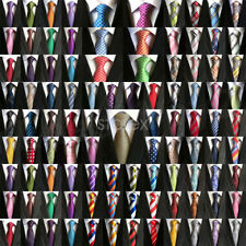 New Mens Classic 100% Silk Tie Necktie Striped White Black JACQUARD Neck Ties