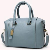 Women's Boston Bag Genuine Leather Crossbody Shoulder Bag Satchel Tote Handbags