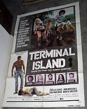 TERMINAL ISLAND orig 1973 EXPLOITATION movie poster PHYLLIS DAVIS/MARTA KRISTEN