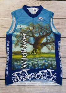 Voler Century Wildflower Womens Full Zip Sleeveless Cycling Bicycle Jersey Med
