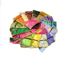 """50pcs 4 1/2"""" Square Silk Jewelry Pouch Display Packaging Pouch Zipper Gift Bag"""