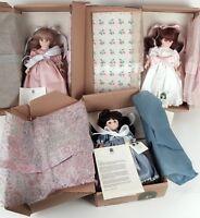 "3 Robin Woods Fancy Nancy Brunette, Auburn, Blonde 14"" Vinyl Dolls Tags Box NRFB"