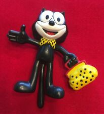 Vintage Felix The Cat Bendy Toy With Bag Of Tricks- Applause-Wt. 8 Oz.