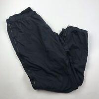 Marmot Mens Windbreaker Sweatpants Rain Pants Black Side Full Zip XL 33
