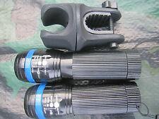 2 x Zoom Cree Taschenlampe FOCUS über 100m Leuchtweite + 1 Halter blau