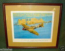 WWII Fighter Sweep Robert Taylor Ltd Spitfire Print Sign Collinsworth Fischette