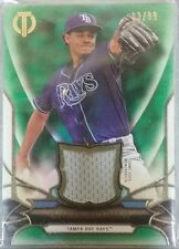 2016 Topps Tribute CHRIS ARCHER Jersey Patch Green /99