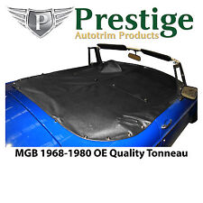 MGB Tonneau Cover Black Factory Quality Vinyl without Headrest Pockets 1968-1980