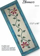 Bloomers table runner quilt pattern by Quilt Lily for Quilt Woman