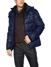 S13 Men's Downhill Quilted Zip Front Down Coat, Navy Xl Shiny Gloss Puffer