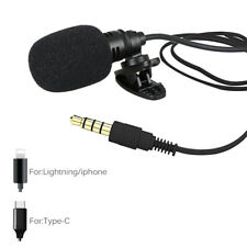 External Clip-on Lapel Lavalier Microphone For iPhone Recording / Type-C / 3.5mm