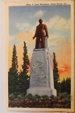 Louisiana LA Baton Rouge Huey P Long Monument Postcard Old Vintage Card View PC