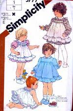 Babies Sun Dress Pinafore Panties Size 1 UNCUTSewing PATTERN 5777