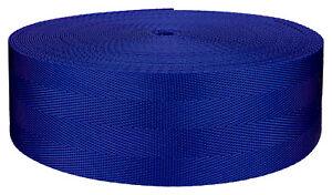 2 Inch 4 Panel Royal Blue Light Weight Nylon Webbing Closeout, 5 Yards
