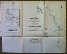 Original Map Mount Britten Gold Field Mackay Queensland 1887 Robert Logan Jack