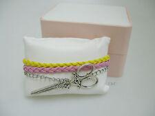 Scissor Charm Infinity Bracelet - Posh Pink Gift Box - Hairdressers Gift?