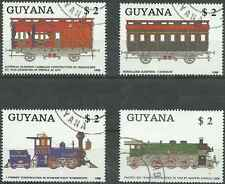 Timbres Trains Guyana 2069/72 o lot 22945