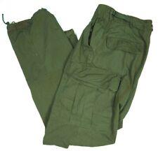 Vintage 60s Jungle Cargo Pants Vietnam 2nd Pattern M 33x33 Military Army Og-107
