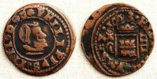 Spain-Felipe IV. 4 Maravedis 1663 Cuenca. MBC/VF. Cobre 1,4 g. Escasa