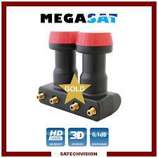 LNB Monobloc Quad 6° Megasat Diavolo 0,1 dB Gain 60 dB Full HD 3D Ready