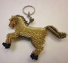 "3D Galloping 3"" Free Us Shipping Hand Beaded Horse Buckskin Gold Black Detailed"
