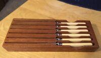 Vtg George Wood & Sons Bagpipes Knife Set