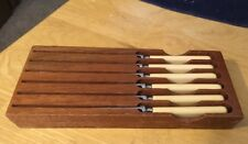 Vtg George Wood & Sons Bagpipes Knife Set