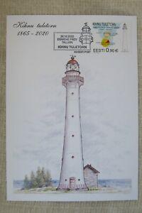 NEW*Estland Eesti_First Day Card 2020_Kihnu Tuletorn_Lighthouses_Leuchtturm