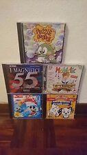 Lotto di 5 cd di giochi per Windows