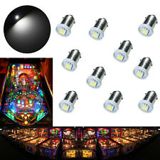 10x #1893 #44 #47 #1847 BA9S 1 SMD LED Pinball Machine Light Bulb White 6.3V USA
