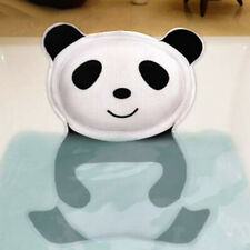 Di- Bg_ 3D Panda Air Mesh Bath Pillow Suction Cups Head Neck Support Spa Cushion