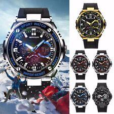 Waterproof Mens LCD Digital Analog Quartz Date Military Alarm Sport Wrist Watch