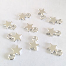 LOT DE 60 PENDENTIFS ARGENTE perles breloques ETOILES 10 x 8mm bijoux fimo scrap