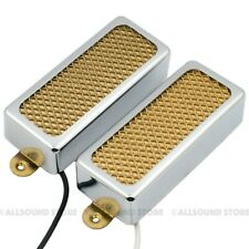 GOLD FOIL Mini Humbucker Neck & Bridge Pickup Set for Electric Guitar, Firebird