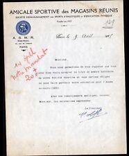 """PARIS (III°) SPORT ATHLETISME """"AMICALE SPORTIVE des MAGASINS REUNIS"""" en 1925"""