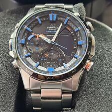 Casio EDIFICE Herren Uhr Analog Quarz mit Edelstahlarmband ERA-300DB-1A2VER Blau