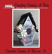 Crealies CREATE A BOX Die Set No.13  BIRD HOUSE  BOX Cutting Dies CCAB13