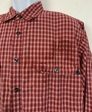 Canyon River Blues Men's Button Up Shirt Lined Work Red Plaid Outdoors Size L