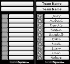 100 Pack - 10 Line Scratch-Off Strip Cards - Racing Hockey Football Basketball
