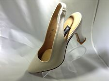 Kenneth Cole White Satin Slingback Heels Shoes Size 6 1/2 Made in Spain