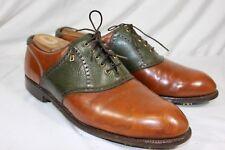 FootJoy Classics Originals Men's Brown / Green Saddle Leather Golf Shoes  11.5 C